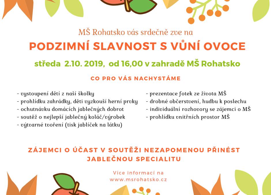Podzimní slavnost svůní ovoce